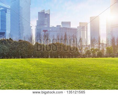 central park,shanghai china.
