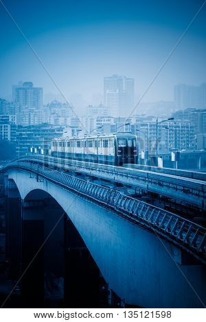 moving metro monorail,chongqing