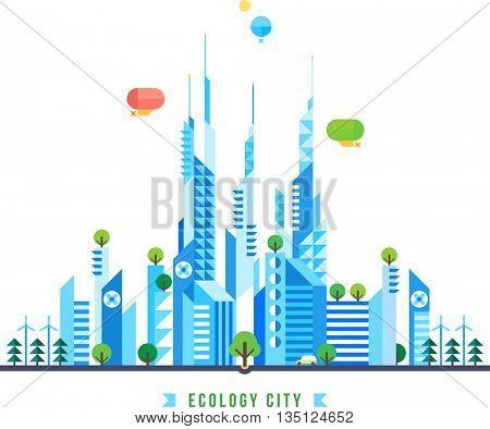 Vector background - Modern eco-city