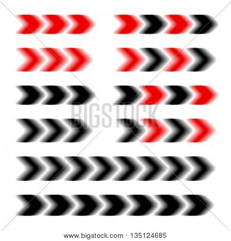 arrow speed motion blur vector