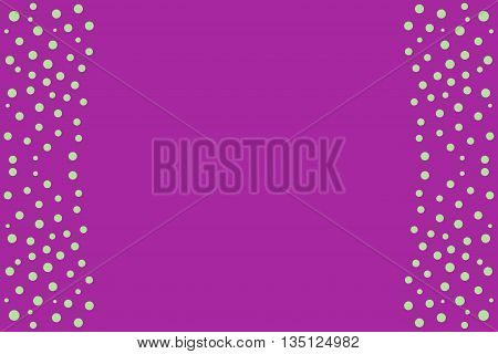 Green points as side frame on a purple background