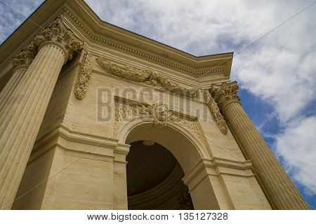 Detail of the Pavillon Peyroux in Montpellier France