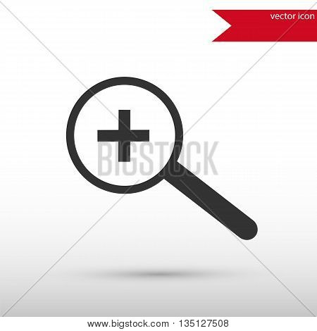 Magnifying glass black icon vector and jpg. Flat style object. Art picture drawing. Eps 10. Web icons.