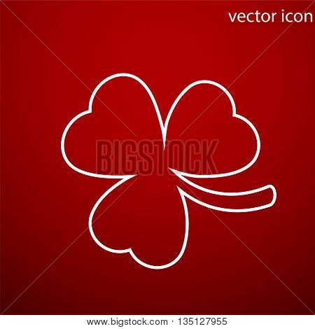 Clover icon vector and jpg. Flat style object. Art picture drawing. Eps 10. Web icons.