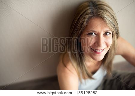 Beautiful Mature Woman With Pleasing Smile