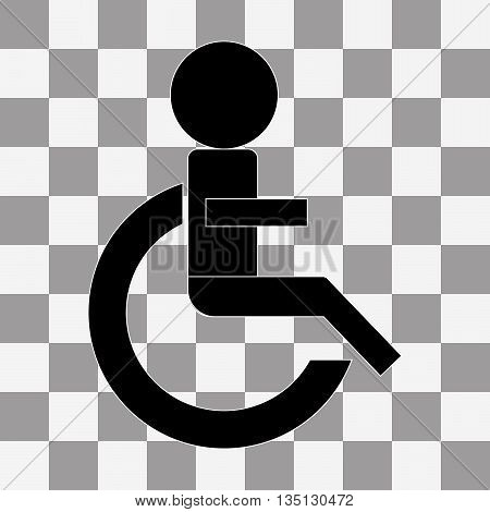 Wheelchair Handicap Icon. vector on a transparent background