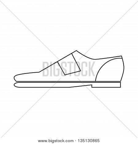 Male shoe icon in outline style on a white background