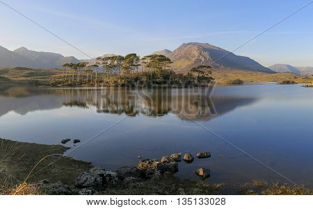 Derryclare lough in Connemara, Galway, West of Ireland