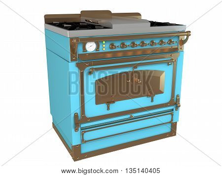 3D Rendering Of A Gas Stove