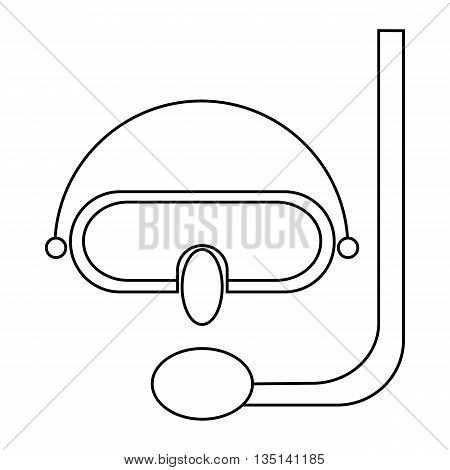 Diving mask icon in outline style on a white background