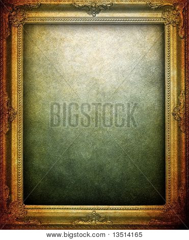 grunge picture frame background