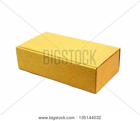 Cardboard box with isolated on white background