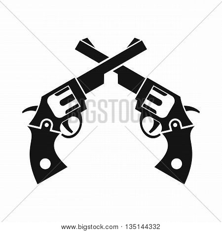 Revolvers icon in simple style isolated on white background