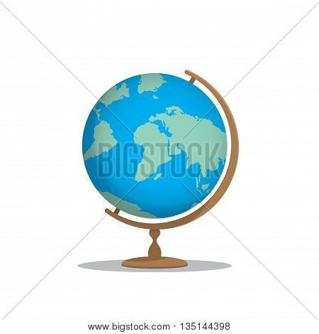 Illustration vector globe model for learning many things about the world or about a meaningful international on white background.