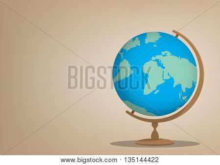 Illustration vector globe model for learning many things about the world or about a meaningful international.