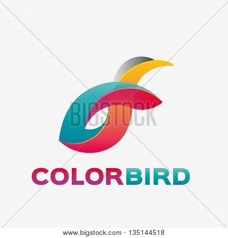 Abstract penguin logo. Vector penguin logo design template. Logo template editable for your business.