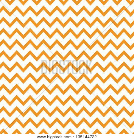 Bright orange zigzag seamless pattern