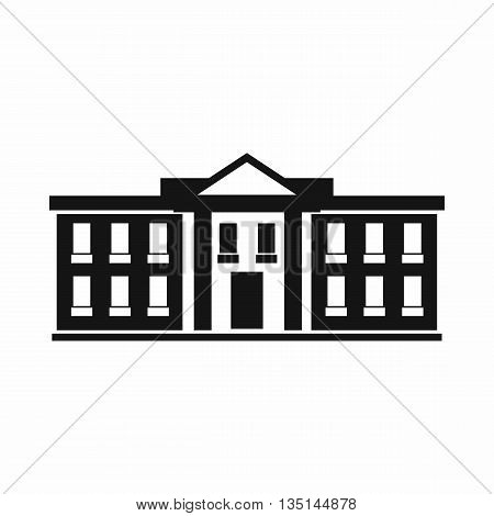 White house USA icon in simple style isolated on white background