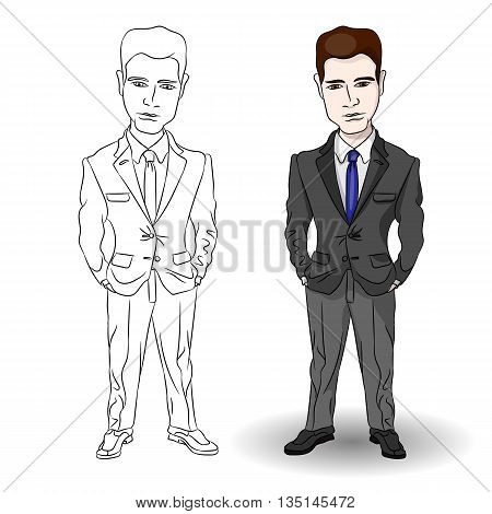 Businessman. Attractive professional businessman. Businessman vector illustration