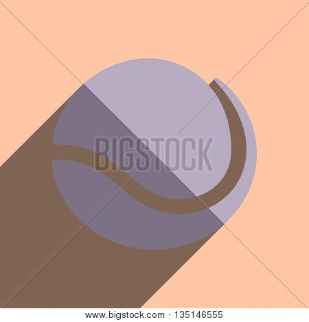 Flat icons with shadow of tennis ball. Vector illustration