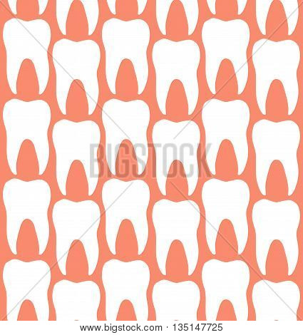 Seamless Dentistry Clinic Molar Teeth Pattern Background