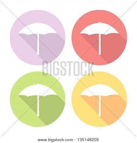Umbrella Icon Flat Icons Set