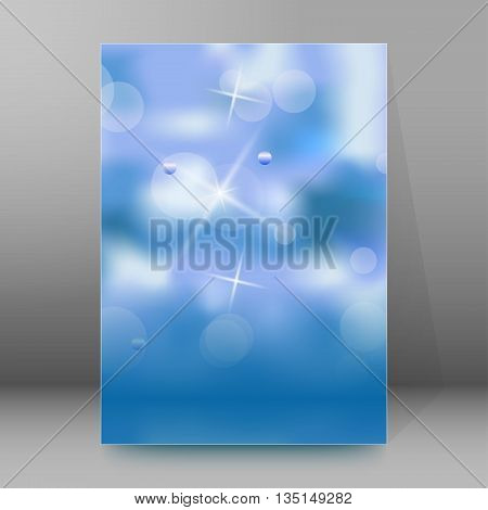 Brochure Cover Template Vertical Format Glowing Background17