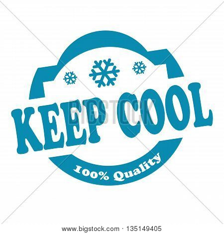 Stamp with text Keep Cool, vector illustration
