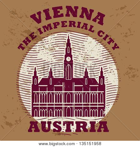 Grunge rubber stamp with words Vienna Austria inside, vector illustration