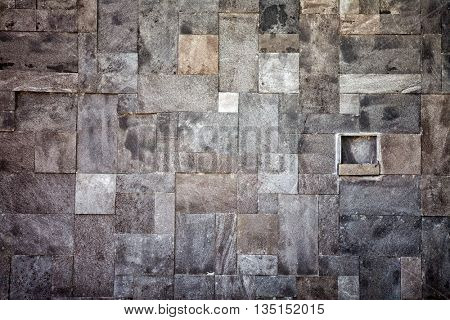 Wall made of stone in the mosaic