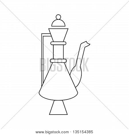 Turkish teapot icon in outline style on a white background
