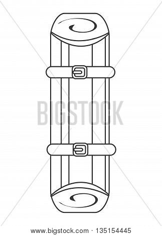first aid stretcher over isolated background, vector illustration