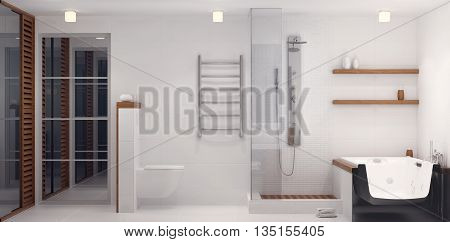 3D Rendering Of Bathroom