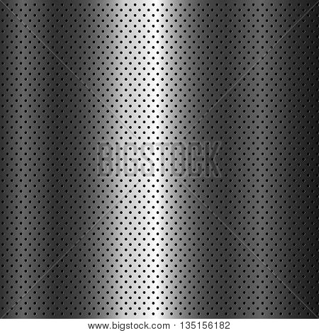 metal grid background vector. Metal texture, perforated background