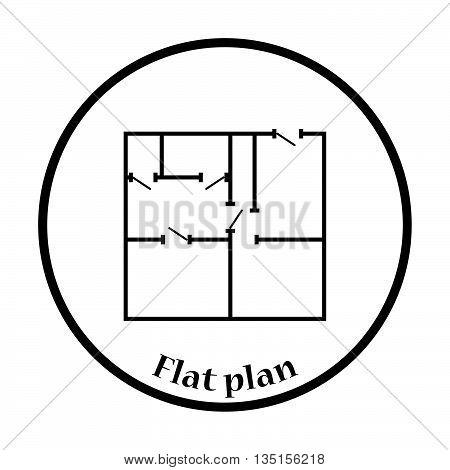 Icon Of Apartment Plan