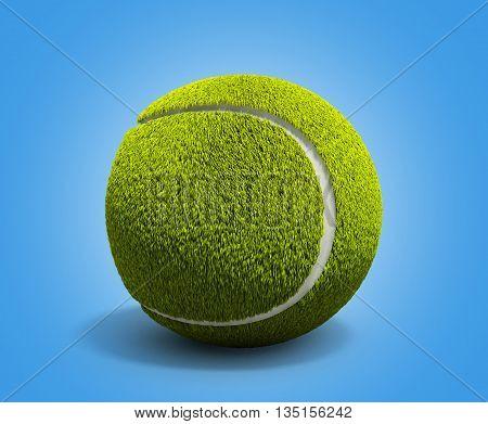 Tennis Ball 3D Render On Gradient Background