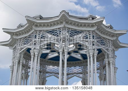 beautiful building near the pavilion in the Culture Park in Moscow