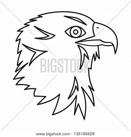 Eagle icon in outline style isolated on white background