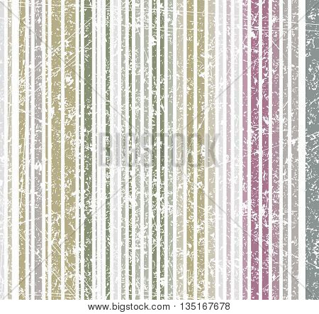 Seamless burn colors grunge style shabby stripe pattern. Vector illustration for your design.