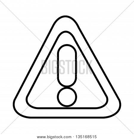 white warning sign with circle and lines over isolated background, vector illustration