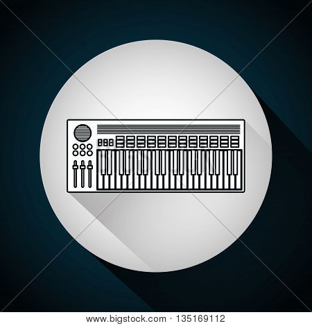 Music technology equipment graphic design, vector illustration