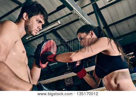 Man Woman Training Gym Boxing Mma Ring Pads Mixed Martial Arts Fitness