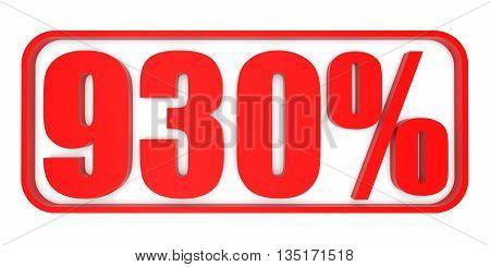 Discount 930 Percent Off. 3D Illustration.
