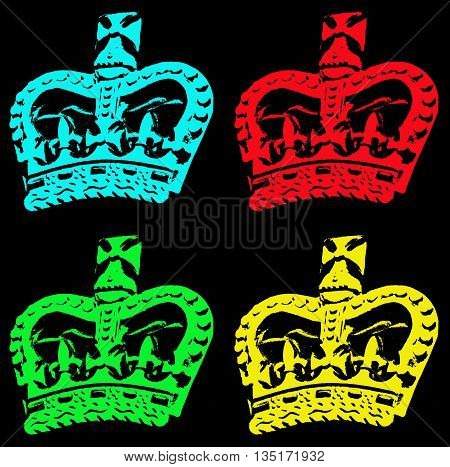 Abstract Creative Artistic Colourfull Crown Scene England