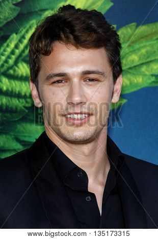 James Franco at the World premiere of 'Pineapple Express' held at the Mann Village Theater in Westwood, USA on July 31, 2008.