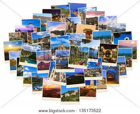 Stack of Montenegro and Bosnia images - nature and travel background