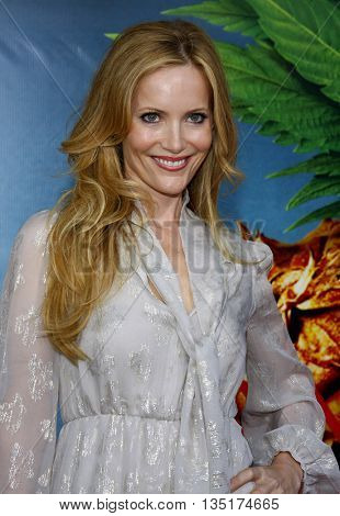 Leslie Mann at the World premiere of 'Pineapple Express' held at the Mann Village Theater in Westwood, USA on July 31, 2008.