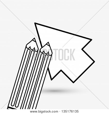 Cursor concept with icon design, vector illustration 10 eps graphic.