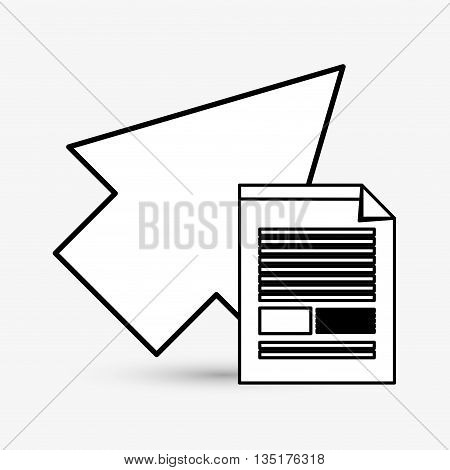Cursor concept with icon design, vector illustration 10 eps graphic.