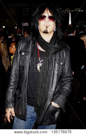 Nikki Sixx at the Los Angeles premiere of 'Faster' held at the Grauman's Chinese Theater in Hollywood, USA on November 22, 2010.